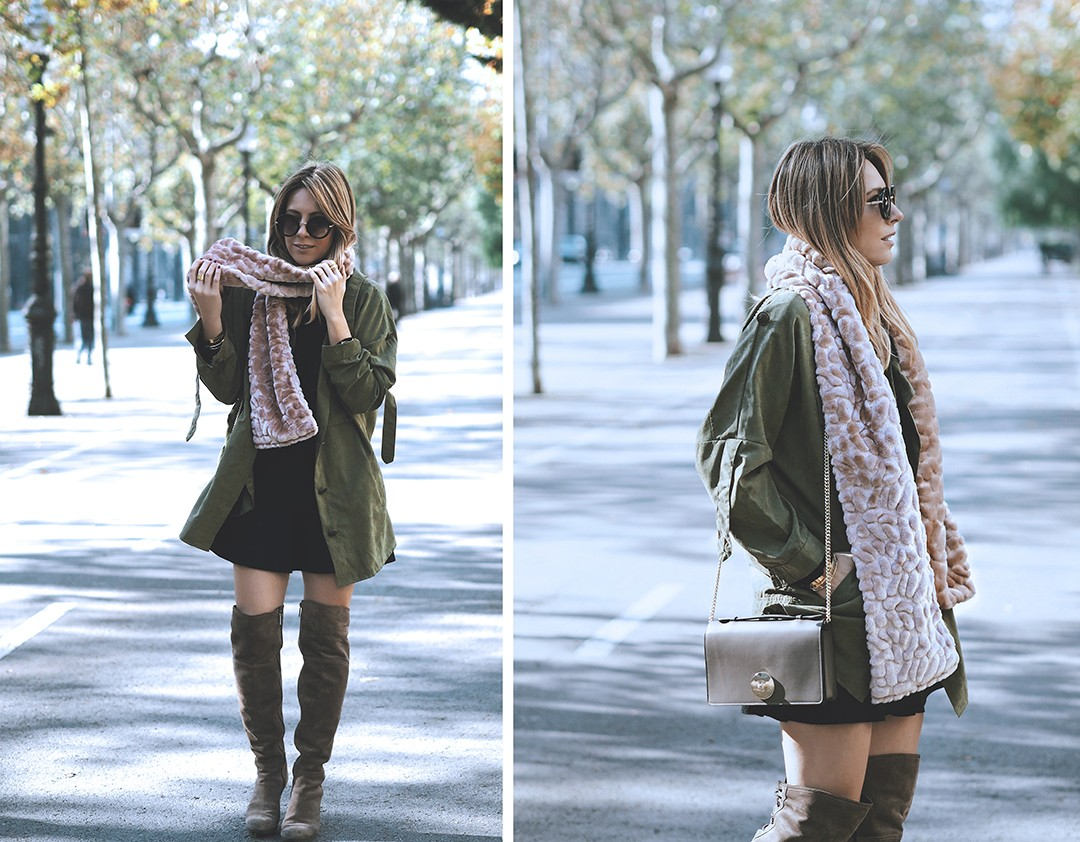 green-trench-outfit-velvet-scarf-2016-blogger-mvapgreen-parka-fashion-blogger-autumn-winter-2016-barcelona-streetstyleimg_2417-copia