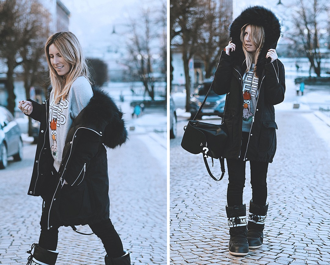 Winter-look-fashion-blogger-snow-2017-bergen-navy-parka-ikksIMG_6435 copia