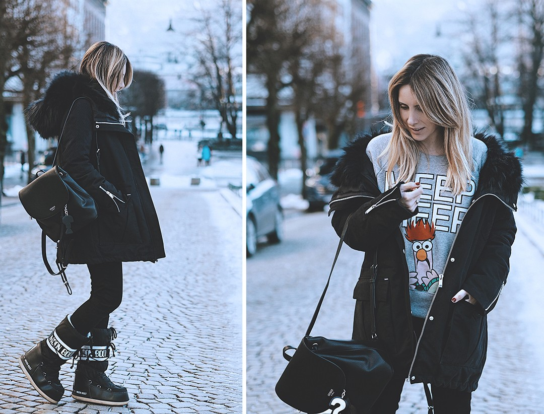 Winter-look-fashion-blogger-snow-2017-bergen-navy-parka-ikksIMG_6438 copia