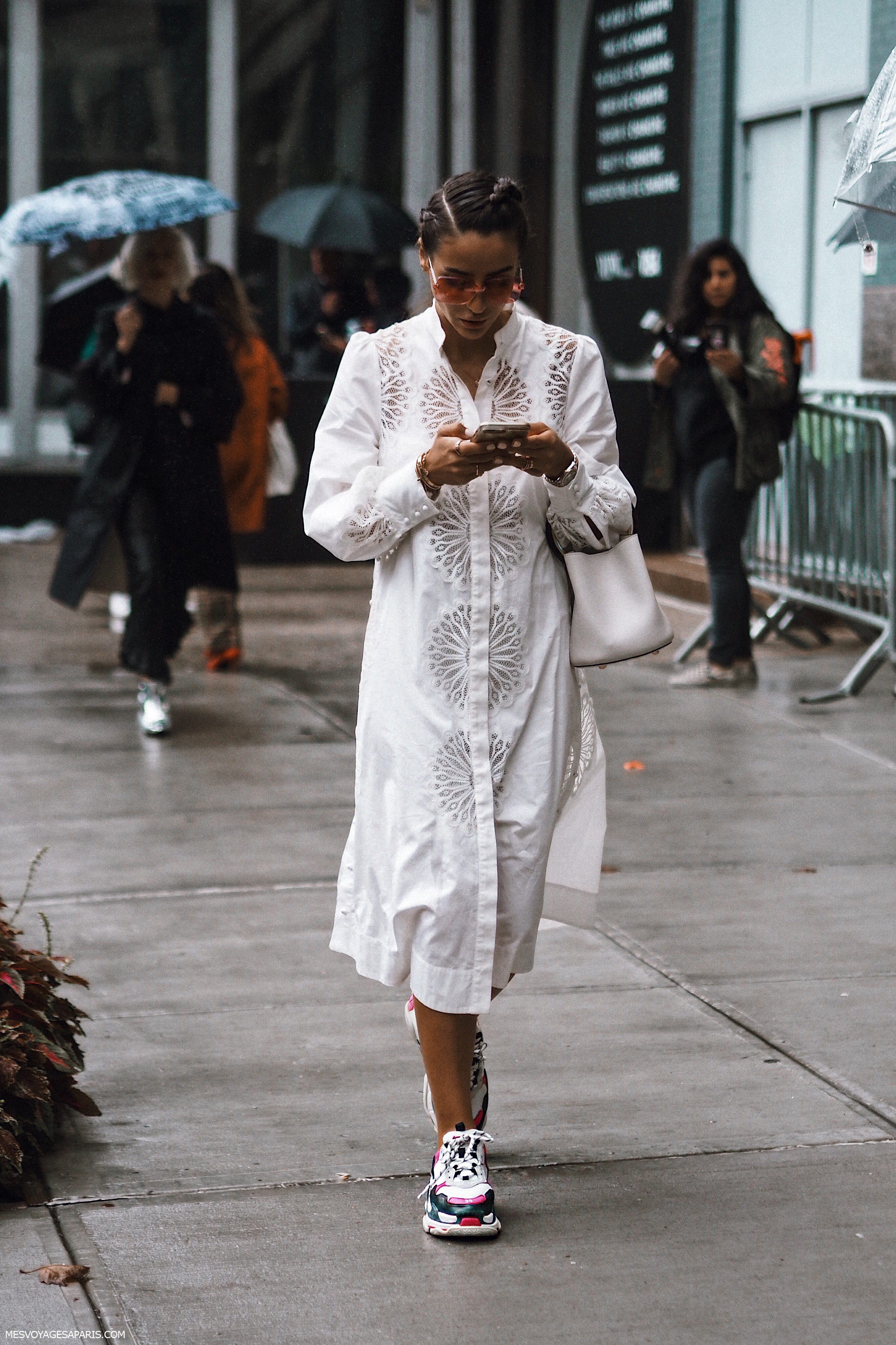 NYFW Street Style September 2018 white looks Tamara New York Fashion Week