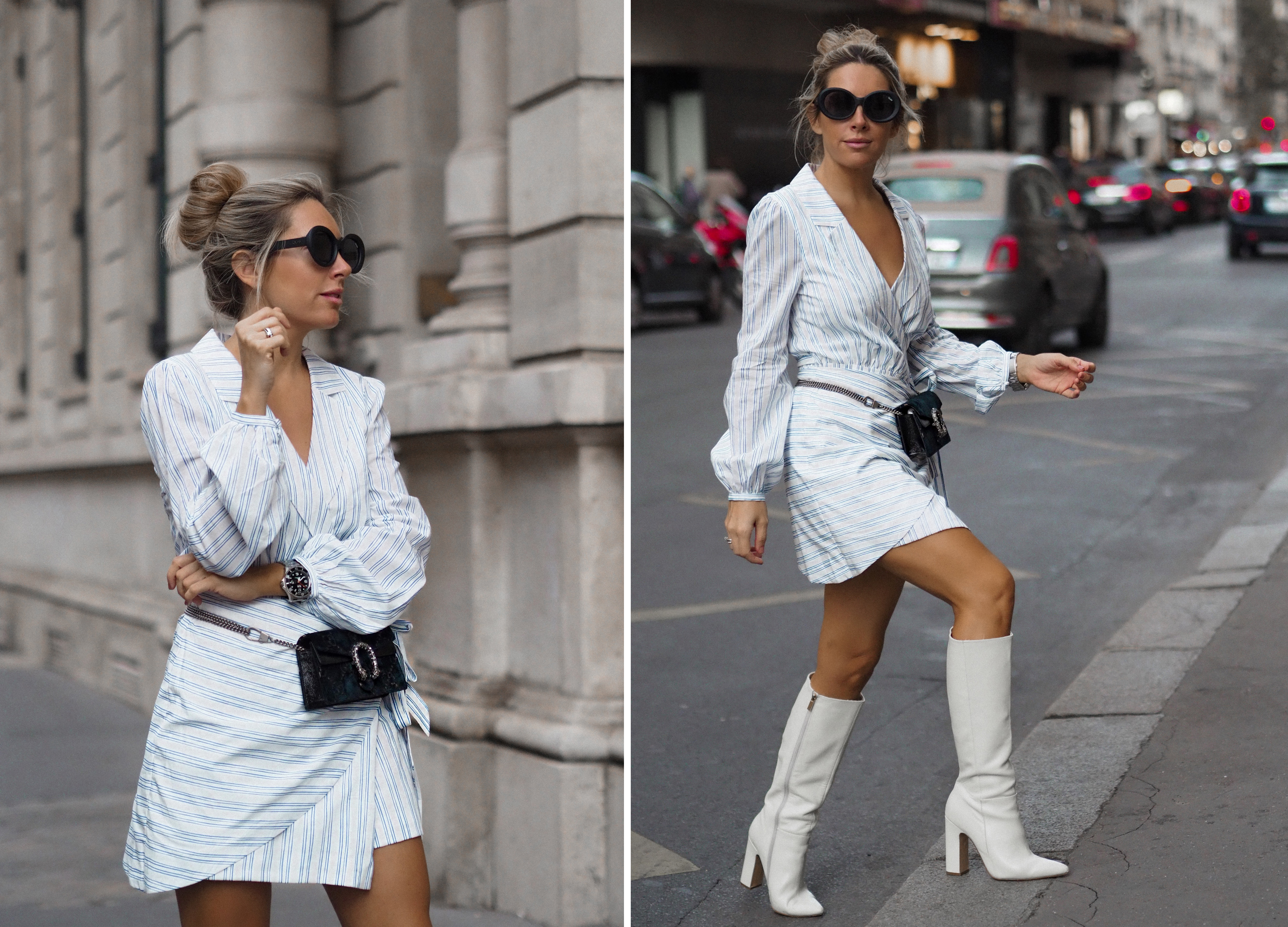 shirt dress fashion blogger