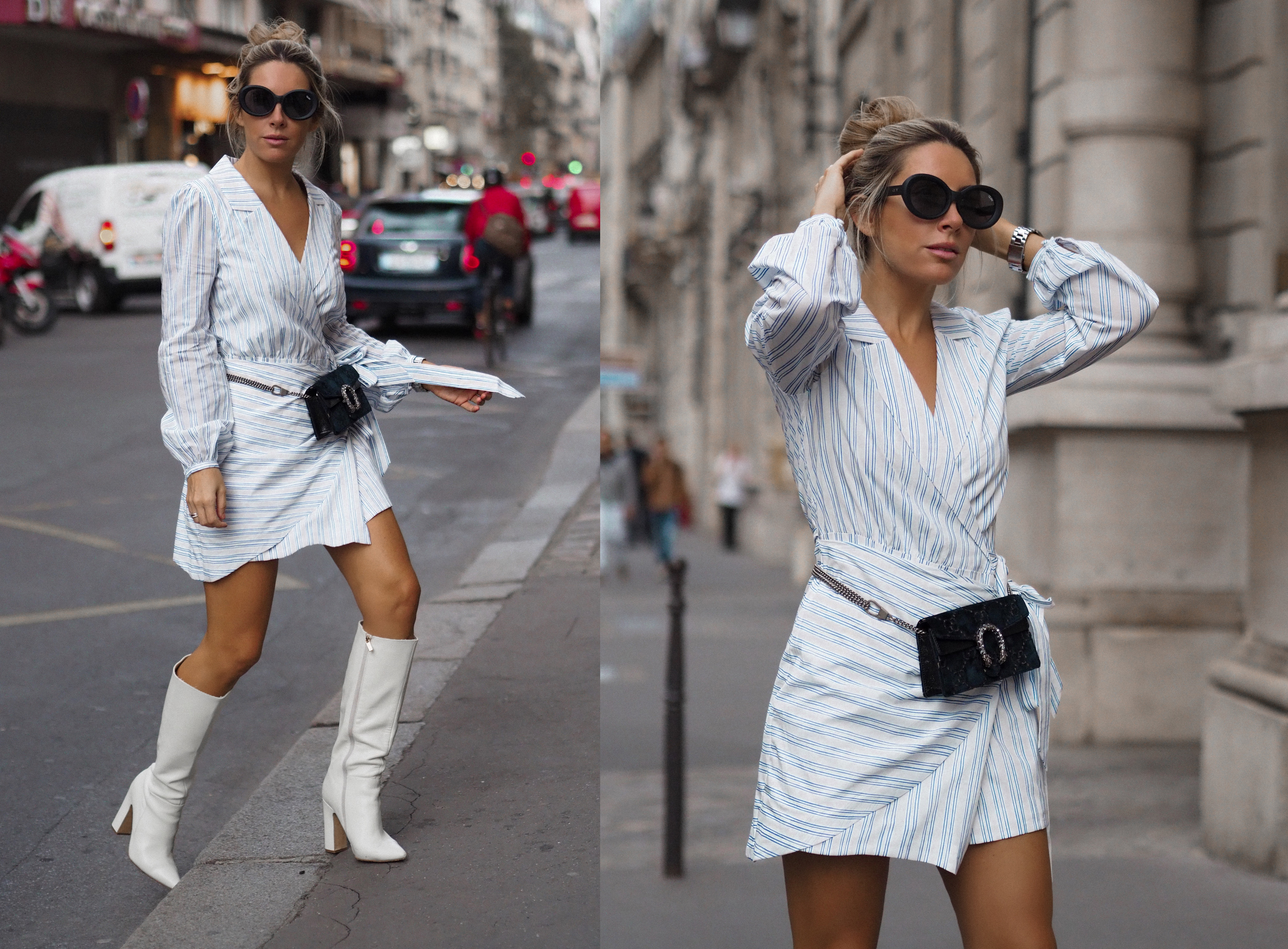 shirt dress street style how to wear