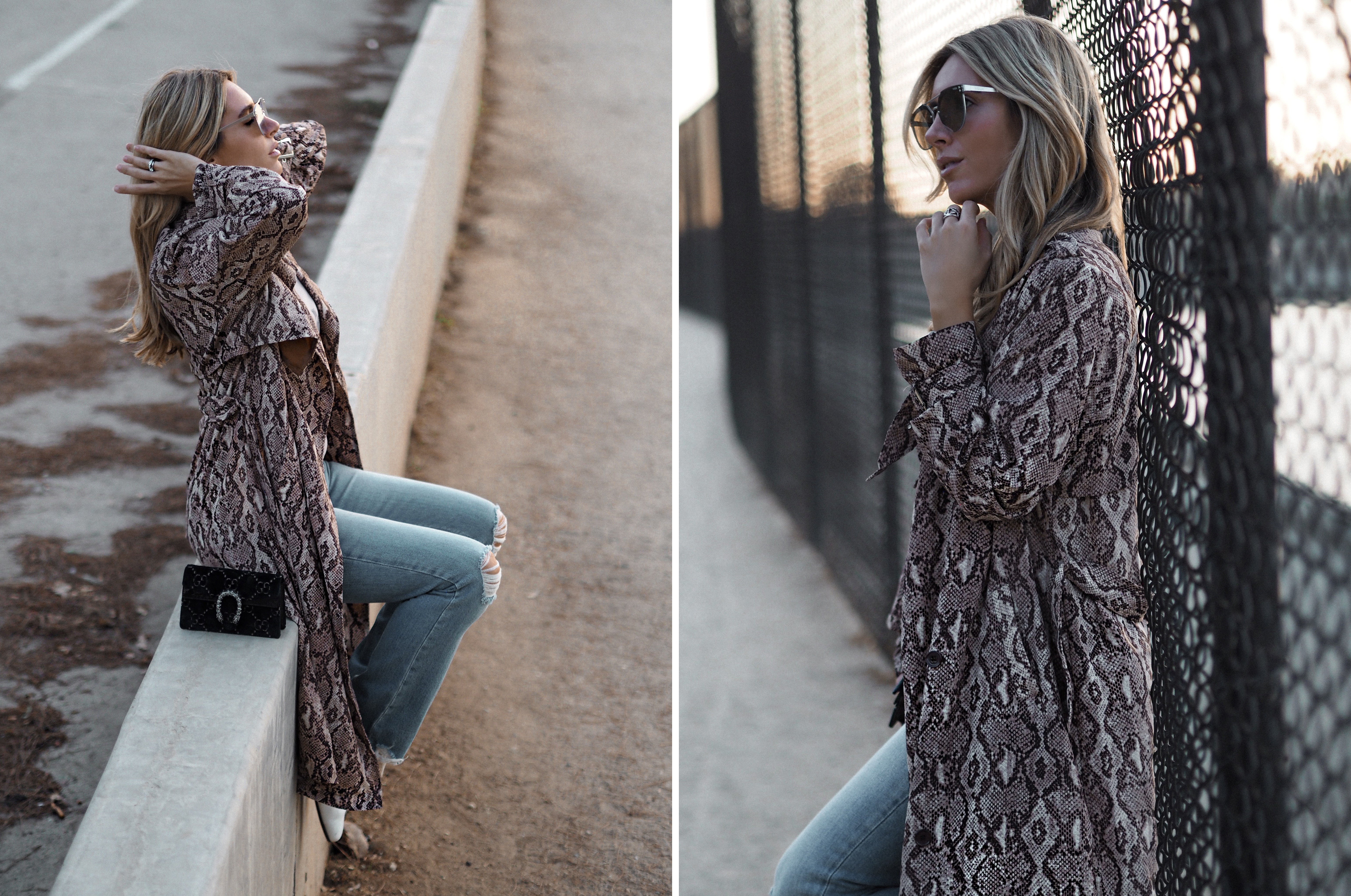 snakeskin trend fashion blogger street style Los Angeles
