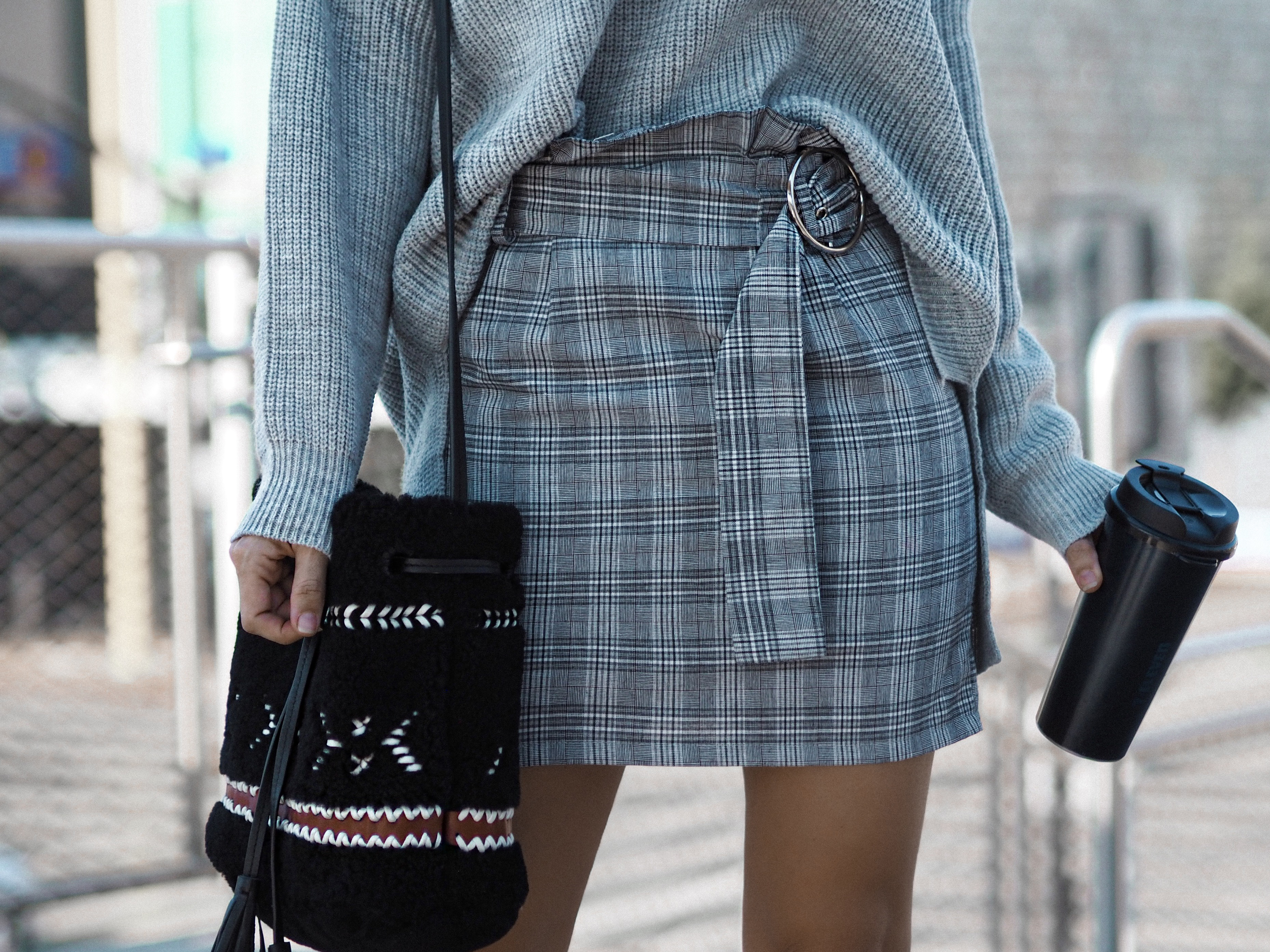 Wales print skirt fashion blogger in Los Angeles