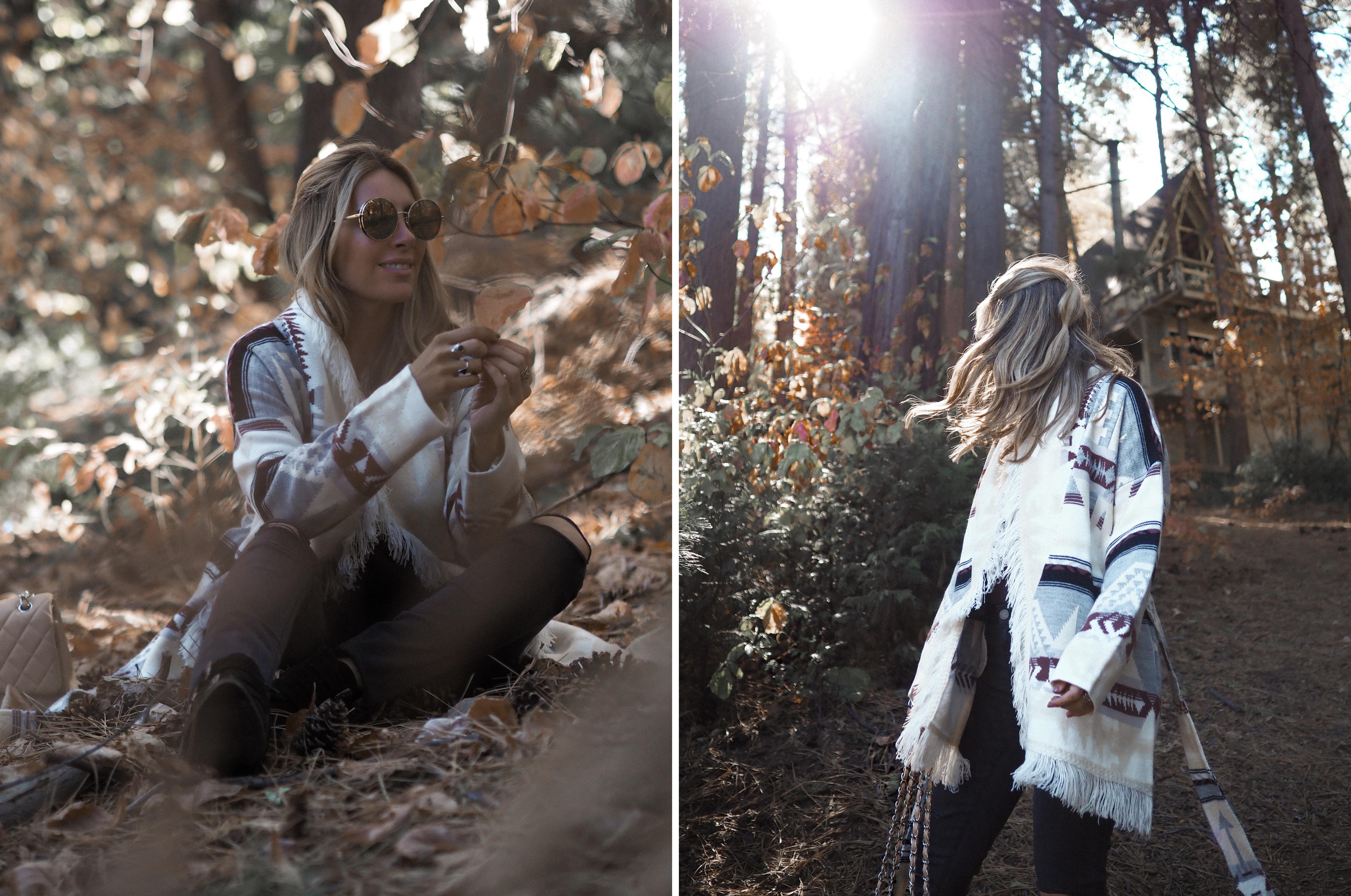 autumn outfit Lake Arrowhead fashion blogger Monica Sors